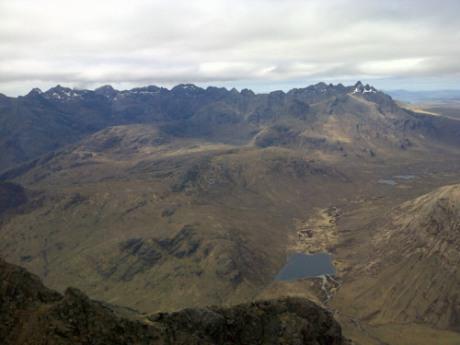 A view from Blà-bheinn, Skye