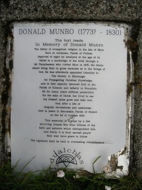 Donald Munro, Catechist