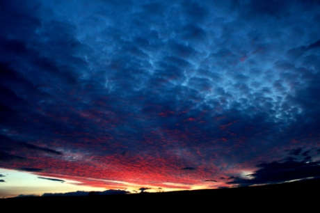 Sunset over Perthshire hills