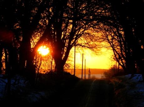 Winter sunset above Stirling
